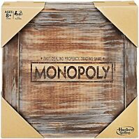 Monopoly Rustic Edition Series Hasbro Parker Brothers Rare Wooden Box Board Game