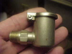 "NOS Gits 1/4"" 90 Degree 1"" Dia. Flip Top Oil Cup Oiler Lathe Machine Engine"