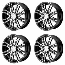 4x Helo 20x9 HE835 Wheels Gloss Black Machined 8x6.5 8x165.1 +18mm Offset 5.71""