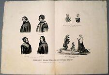 Lithographie, Portraits de nobles italiens,Vérone