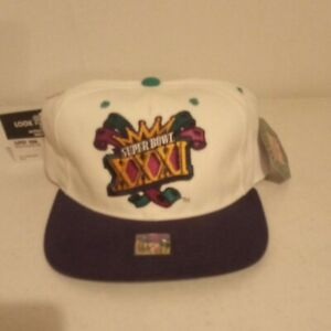 Vintage 1997 NFL Super Bowl XXXI Starter Hat Cap Patriots vs Packers football
