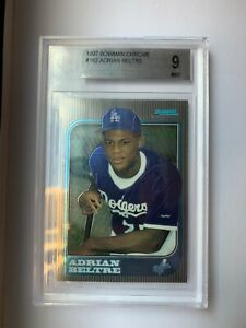 1997 Bowman Chrome #182 Adrian Beltre Rookie RC Card BGS 9 MINT ~ LA Dodgers!