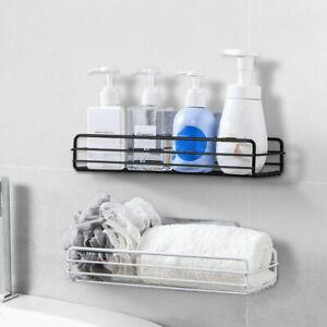 Bathroom Shower Wall Shelf Adhesive Holder Corner Shampoo Storage Rack Organizer