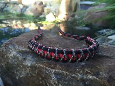 BOW WRIST SLING  Black And Red with Digital Micro Braid X Weave