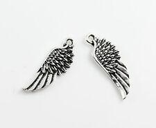 3 Stück Metallanhänger Flügel Halskette Armband Charm - 22 x 8 mm Engel