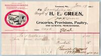 1900 TOWNSEND MARYLAND*(DELAWARE?)*H E GREEN*GROCERIES PROVISIONS POULTRY
