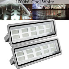 2 Set 1000W Led Flood Light Cool White Outdoor Security Street Bulb Lamp Fixture