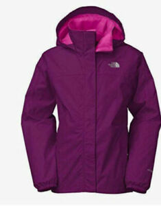 NORTH FACE GIRL'S PURPLE G RESOLVE REFLECTIVE WATERPROOF JACKET XL or XS women's