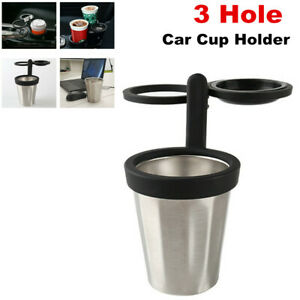 Three Hole Stainless Steel Car SUV Cup Holder Drinks Water Bottle Beverage Stand