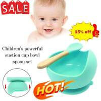 New Baby Silicone Suction Cup Bowl With Spoon Set Kids Non-slip Feeding Supply