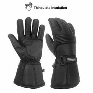 WFX Thermal Motorbike Motorcycle Gloves Warm Leather Waterproof Winter