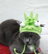 Alien hat costume outfit Cat Crochet monster pet hat Alien beanie Small Dog
