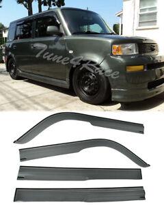 For 04-06 Scion xB Smoke Tint Mugen Style Side Window Visor Rain Guard Deflector