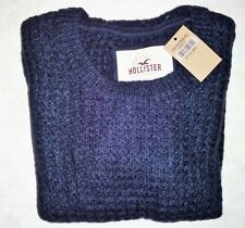 New Hollister Abercrombie Vintage Womens Knit Sweater Navy Size Small