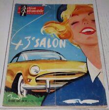 ACTION AUTOMOBILE OCTOBRE 1956 SALON PARIS PEUGEOT RENAULT CITROËN USA MERCEDES