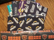 NFL Football Cotton Fabric By The 1/4 YARD 9