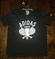 New Adidas Climalite Skull Rackets Tennis Tee Shirt Men's Size 2XL Black RARE !