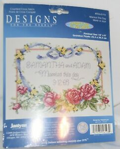 Janlynn Design 4 the Needle Embroidery & Cross Stitch Married This Day 056-0193