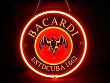 Bacardi Cocktail Cafe Pub Bar Display Advertising Neon Sign