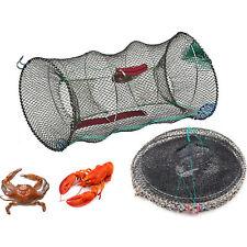 CRAB TRAP NET FOR PRAWN SHRIMP CRAYFISH LOBSTER EEL LIVE BAIT FISHING POT BASKET