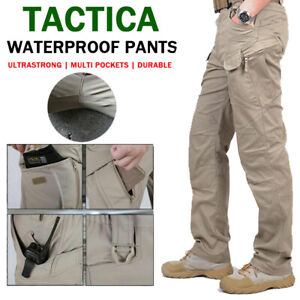 Tactical Trousers Soldier Fishing Mens Cargo Hiking Casual Pants Combat Outdoor