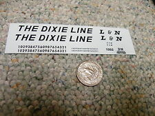 Herald King decals HO Louisville Nashville LN Dixie Line black   XX156
