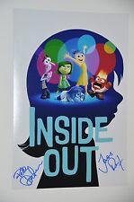 Pete Docter & Jonas Rivera SIGNED 20x30cm inside out foto autografo/Autograph