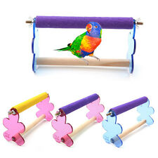 Pet Bird Parrot Acrylic Paw Non-slip Wooden Grinding Stand Perches Training Toy