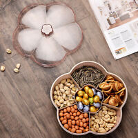 Flower Shape Serving Tray Snacks Storage Box With Lid for Nut Candy Dried Fruit