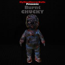 4'' BURNT CHUCKY THE KILLER DOLL CHILD'S PLAY SCARY HORROR MOVIE 100% HANDMADE