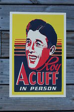 Roy Acuff Concert Tour Poster