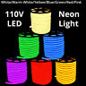 3' -330' 110V Commercial LED Flexible Neon Rope Strip Light Decor Flex Tube Sign