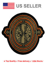 Time Turner Iron On / Sew On Patches harry potter motif hogwarts sand Embroidery