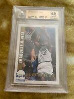 1992-93 NBA Hoops Shaquille O'Neal Rookie #442 Shaq O'Neal Beckett 9.5 Gem Mint