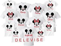 Mickey & Minnie MOM DAD FAMILY VACATION BIRTHDAY Matching cute T-Shirts