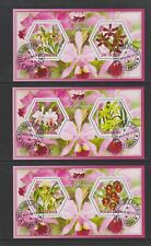 Chad - 2014, Orchids of the World (Flowers) sheets x 3 - CTO