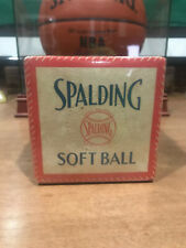 Spalding Vintage Softball Box - Circa 1950's Mint Condition