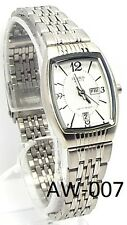 New Citizen Lady Silver-tone, White-dial- Rectangle Dress Watch