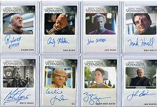 Star Trek Voyager Autograph & Costume Card Selection NM  Rittenhouse Aliens