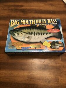 Vintage Big Mouth Billy Bass The Singing Sensation Motion Activated 1998 NEW!!