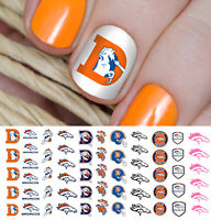 Denver Broncos Football Nail Art Decals - Salon Quality!