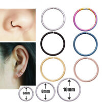 Steel Nose Ring Lip Nose Rings Cartilage Tragus Helix Ear Piercing  Hoop