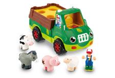 WOW TOYS Freddie Farm Truck , Hassle Free Eco Friendly Brown Box!