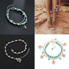 Chain Foot Party Beach Jewelry Gift Retro Women Turquoise Anklet Bracelet Ankle