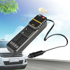 Car USB 12V DC to AC 220V 200W Auto Vehicle Power Inverter Adapter Converter