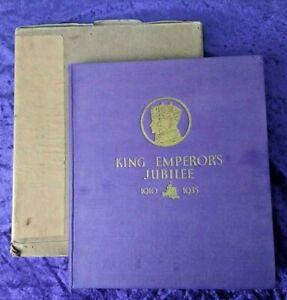 Beautiful 1935 silver Jubilee George V book with original box