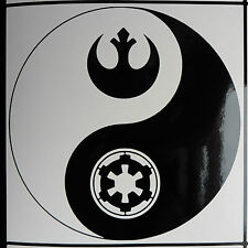 """Ying Yang Star Wars"" myths magic stickers/car/van/window/decal 5424 Black"