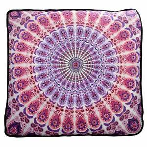 """Mandala 35"""" Ottoman Indian Square Seating Cover Pouf Cushion Floor Pillow Case"""