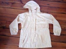 LL Bean Yellow Hooded Womens Rain Coat Hiking Shell Parka Jacket Petite Small S