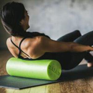"Gaiam: Muscle Therapy Foam Roller (18"" non porous foam roller & 15 minute  DVD)"